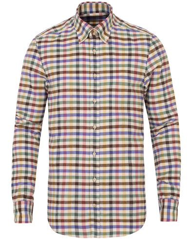Stenstr�ms Slimline Flannel Check Shirt Off White i gruppen Skjortor / Casual Skjortor hos Care of Carl (13055411r)