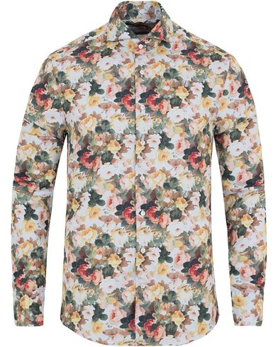 Stenströms Slimline Washed Flower Print Shirt Multi i gruppen Klær / Skjorter / Oxfordskjorter hos Care of Carl (13055711r)