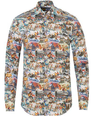 Stenströms Slimline Ski Print Shirt Multi i gruppen Skjorter / Casual skjorter hos Care of Carl (13056411r)