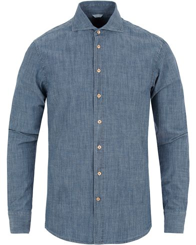 Stenströms Slimline Garment Washed Shirt Blue i gruppen Skjortor / Jeansskjortor hos Care of Carl (13056511r)