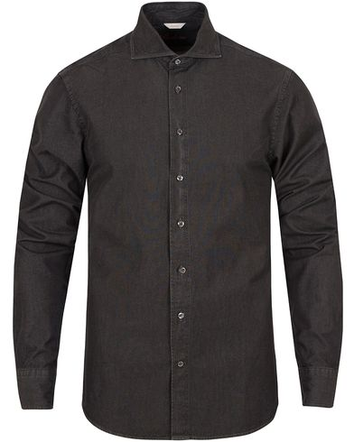 Stenströms Slimline Garment Washed Shirt Black i gruppen Skjortor / Jeansskjortor hos Care of Carl (13056811r)