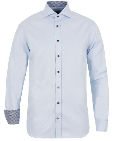 Stenströms Fitted Body Contrast Shirt Light Blue i gruppen Skjorter hos Care of Carl (13056911r)