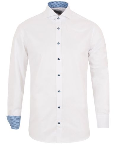 Stenstr�ms Fitted Body Contrast Shirt White i gruppen Skjorter / Businesskjorter hos Care of Carl (13057011r)