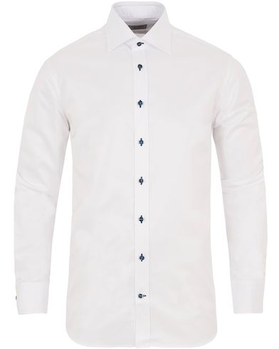 Stenströms Fitted Body Plain Shirt White i gruppen Skjortor / Formella skjortor hos Care of Carl (13057111r)