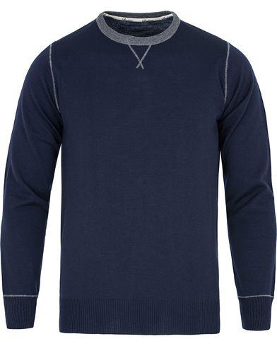 Stenströms Crew Neck Merino Wool Pullover Blue i gruppen Tröjor / Pullovers / Rundhalsade pullovers hos Care of Carl (13057211r)