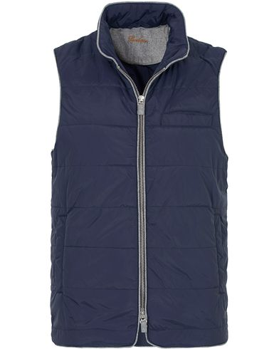 Stenstr�ms Quilted Nylon Vest Navy i gruppen Jakker / Yttervester hos Care of Carl (13058511r)
