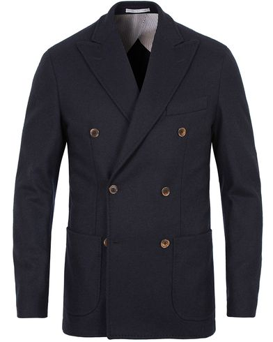 Stenströms Double Breasted Wool Blazer Navy i gruppen Kavajer hos Care of Carl (13058711r)