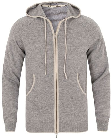 Stenströms Cashmere Full Zip Hood Grey i gruppen Tröjor / Huvtröjor hos Care of Carl (13059011r)