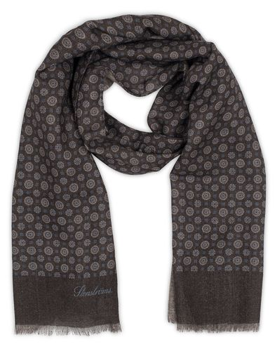 Stenströms Medallion Wool Scarf Brown  i gruppen Accessoarer / Scarves hos Care of Carl (13059110)