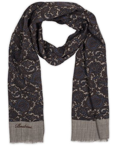 Stenströms Paisley Wool Scarf Brown  i gruppen Assesoarer / Scarves hos Care of Carl (13059310)