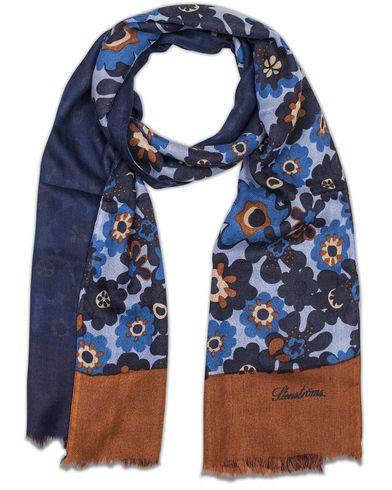 Stenströms Doublefaced Wool/Silk/Cashmere Scarf Navy  i gruppen Accessoarer / Scarves hos Care of Carl (13059510)