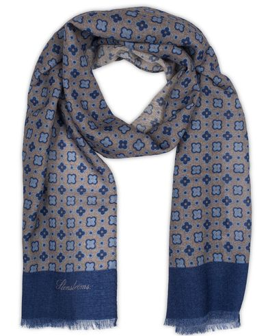 Stenströms Medallion Wool Scarf Grey  i gruppen Accessoarer / Scarves hos Care of Carl (13059910)
