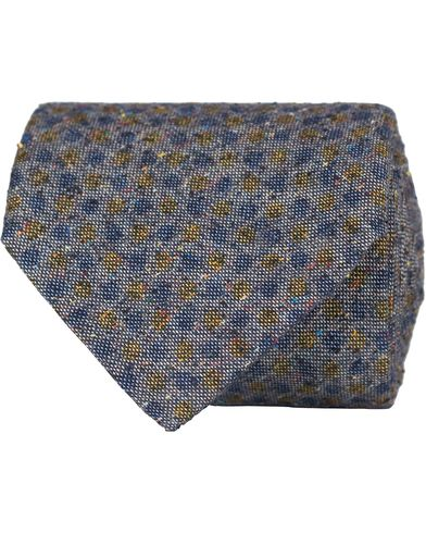 Stenströms Dot Silk/Cotton 8 cm Tie Blue  i gruppen Accessoarer / Slipsar hos Care of Carl (13061110)