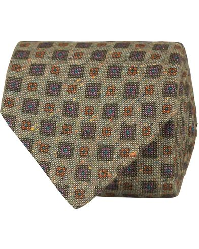 Stenstr�ms Medalion Silk/Cotton 8 cm Tie Green  i gruppen Assesoarer / Slips hos Care of Carl (13061210)