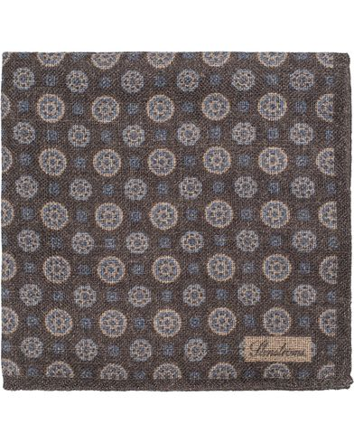 Stenströms Medallion Wool Pocket Square Grey/Brown  i gruppen Accessoarer / Näsdukar hos Care of Carl (13061410)