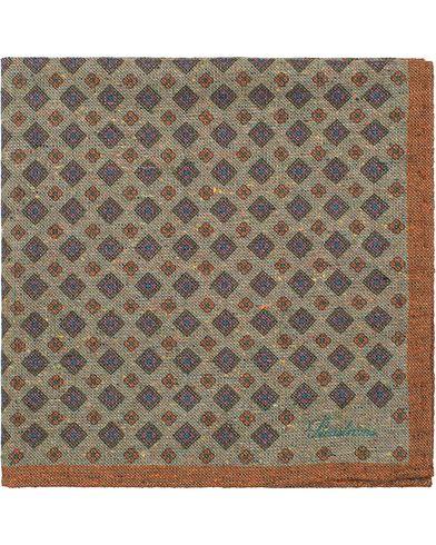 Stenströms Medallion Wool Pocket Square Green  i gruppen Assesoarer / Lommetørklær hos Care of Carl (13061610)