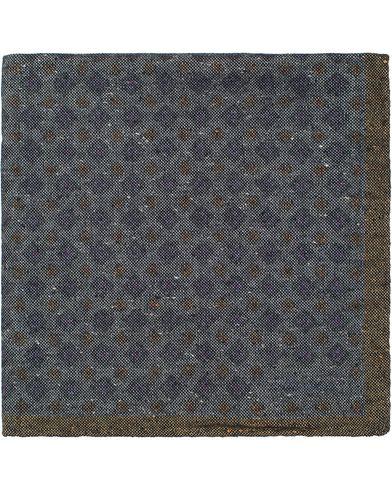 Stenströms Medallion Wool Pocket Square Grey  i gruppen Assesoarer / Lommetørklær hos Care of Carl (13061710)