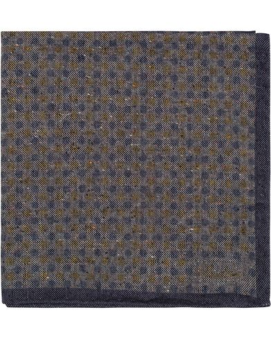 Stenströms Dot Wool Pocket Square Blue/Grey  i gruppen Assesoarer / Lommetørklær hos Care of Carl (13061910)
