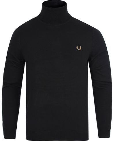 Fred Perry Merino Rollneck Sweater Black i gruppen Klær / Gensere / Pologensere hos Care of Carl (13064011r)
