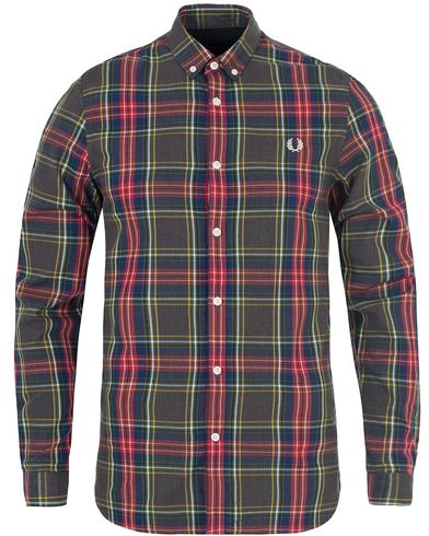 Fred Perry Classic Fit Tartan Shirt Grey Marl i gruppen Skjorter / Casual skjorter hos Care of Carl (13064411r)