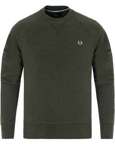 Fred Perry Loopback Crew Sweat Racing Green i gruppen Tr�jor / Sweatshirts hos Care of Carl (13064511r)