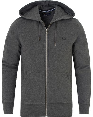 Fred Perry Loopback Hoodie Sweat Graphite Marl i gruppen Gensere / Hettegensere hos Care of Carl (13064711r)