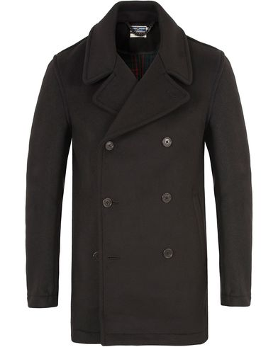 Fred Perry Reissues Made In England Reefer Coat Black i gruppen Jackor / Skepparkavajer hos Care of Carl (13065911r)