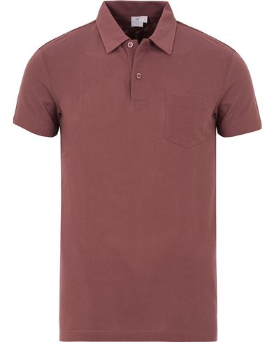 Sunspel Riviera Polo Shirt Redbrick i gruppen Pikéer / Kortermet piké hos Care of Carl (13067311r)