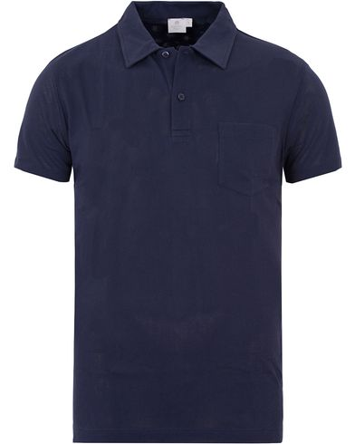 Sunspel Riviera Polo Shirt Masonry Blue i gruppen Pik�er / Kortermet Pik� hos Care of Carl (13067411r)