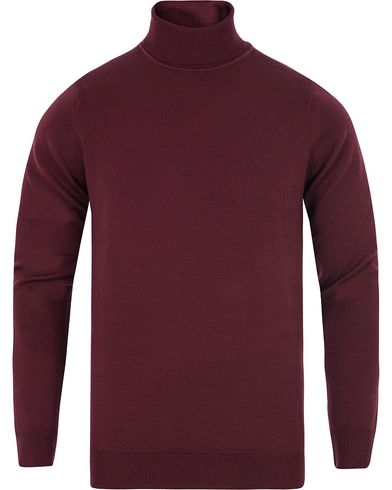 Sunspel Merino Roll Neck Dark Redbrick i gruppen Klær / Gensere / Pologensere hos Care of Carl (13067811r)