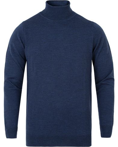 Sunspel Merino Roll Neck Masonry Melange i gruppen Tröjor / Polotröjor hos Care of Carl (13067911r)