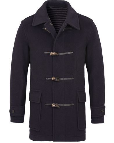 Sunspel Duffle Coat Navy i gruppen Kläder / Jackor / Vinterjackor hos Care of Carl (13068111r)