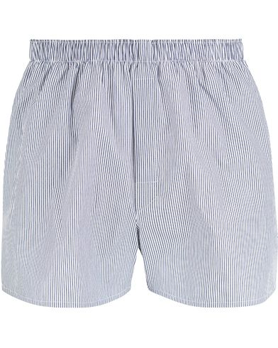 Sunspel Woven Boxer Shorts White/Navy/Light Blue i gruppen Undertøy / Underbukser hos Care of Carl (13068211r)