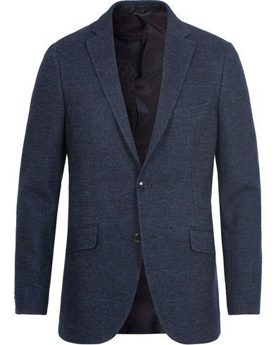 Etro Jersey Glencheck Blazer Dark Blue i gruppen Klær / Dressjakker / Enkeltspente dressjakker hos Care of Carl (13068511r)