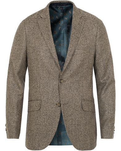 Etro Tweed Herringbone Blazer Black/White i gruppen Dressjakker / Enkeltspente dressjakker hos Care of Carl (13068711r)
