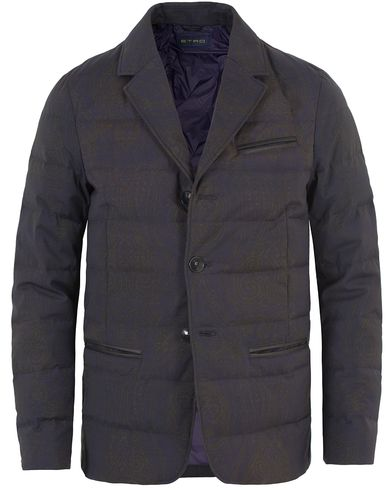 Etro Wool Tonal-Paisley Down Jacket Dark Blue i gruppen Jackor / Vadderade jackor hos Care of Carl (13068811r)
