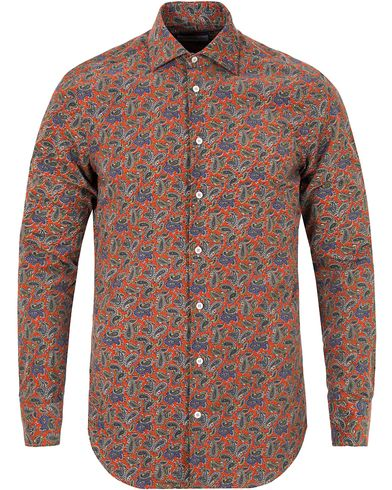 Etro Slim Fit Corduroy Paisley Shirt Red i gruppen Kläder / Skjortor / Casual skjortor hos Care of Carl (13069511r)