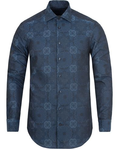 Etro Slim Fit Woven Denim Shirt Navy i gruppen Kläder / Skjortor / Casual skjortor hos Care of Carl (13069611r)
