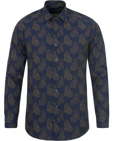 Etro Printed Paisley Shirt Dark Blue i gruppen Skjorter / Businesskjorter hos Care of Carl (13069711r)
