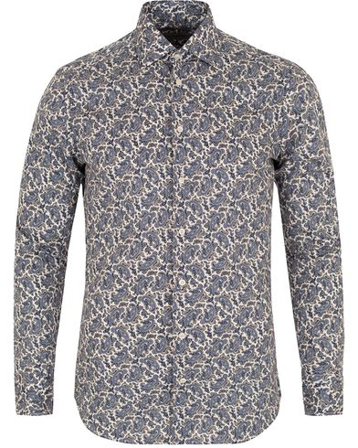Etro Stretch Slim Fit Printed Paisley Shirt Dark Blue i gruppen Skjorter / Casual skjorter hos Care of Carl (13069811r)