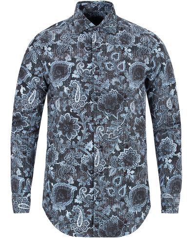 Etro Slim Fit Corduroy Paisley Shirt Dark Blue i gruppen Skjorter / Casual skjorter hos Care of Carl (13070011r)