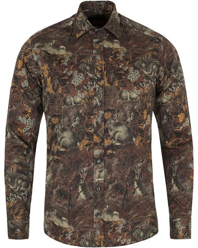 Etro Casual Fit Printed Animal Shirt Forrest i gruppen Skjortor / Businesskjortor hos Care of Carl (13070111r)