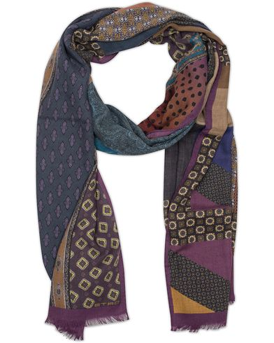 Etro Wool Medallion Scarf Multi Color  i gruppen Assesoarer / Scarves hos Care of Carl (13070810)