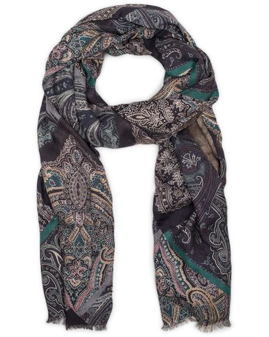 Etro Cashmere/Silk Paisley Scarf Multi Color  i gruppen Accessoarer / Scarves hos Care of Carl (13070910)