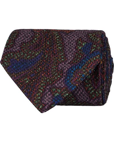 Etro Paisley Silk 8 cm Tie Grey  i gruppen Assesoarer / Slips hos Care of Carl (13071510)
