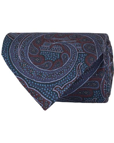 Etro Paisley Silk 8 cm Tie Purple  i gruppen Accessoarer / Slipsar hos Care of Carl (13071610)