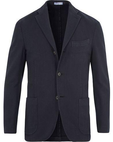 Boglioli Herringbone Wool K Jacket Blazer Dark Blue i gruppen Klær / Dressjakker / Enkeltspente dressjakker hos Care of Carl (13072211r)