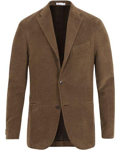 Boglioli Moleskin K Jacket Blazer Dark Brown i gruppen Dressjakker / Enkeltspente dressjakker hos Care of Carl (13072811r)