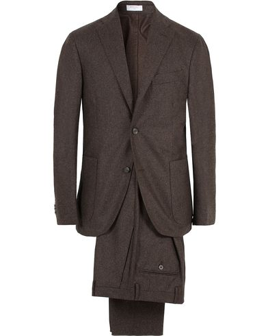 Boglioli Wool K Jacket Suit Dark Brown i gruppen Kostymer hos Care of Carl (13073011r)
