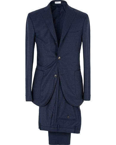 Boglioli Wool K Jacket Suit Dark Navy i gruppen Dresser hos Care of Carl (13073111r)